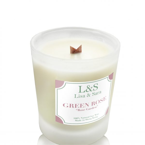 Green Rose Soy Wax Candle