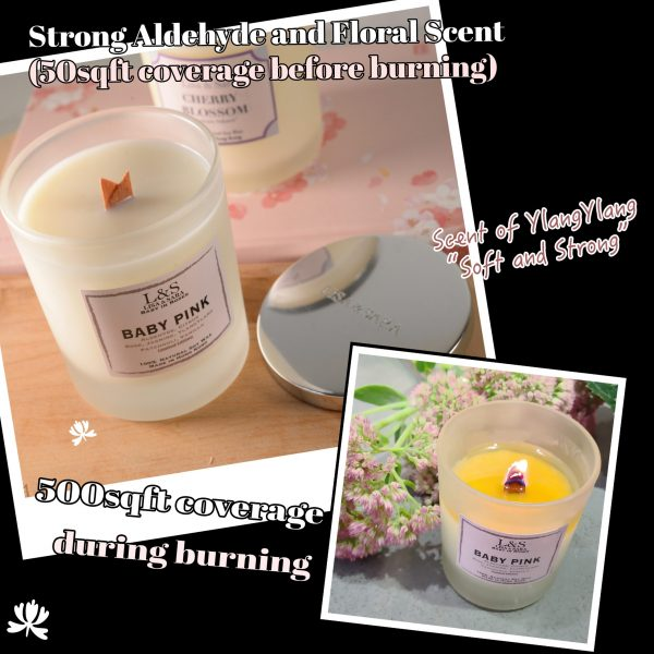 Baby Pink Soy Wax Candle