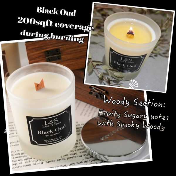 Black Oud Soy Wax Candle