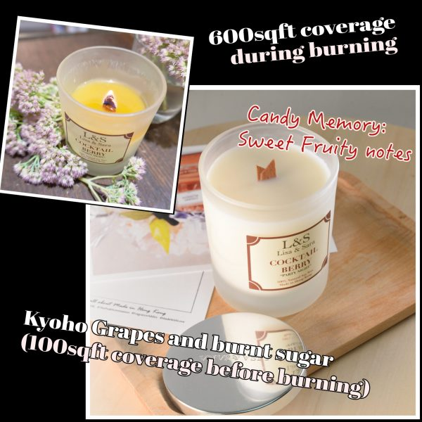 Cocktail Berry Soy Wax Candle
